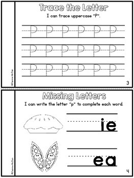 Learning the Letter P Mini Book