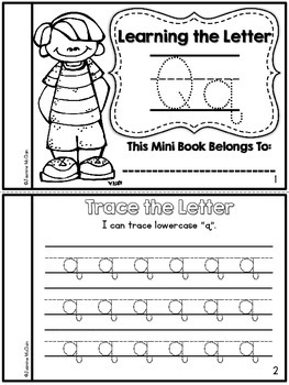 Learning the Letter Q Mini Book