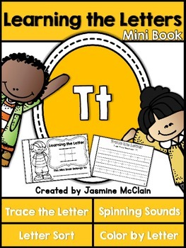 Learning the Letter T Mini Book