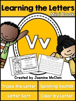 Learning the Letter V Mini Book
