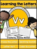 Learning the Letter V Mini Book