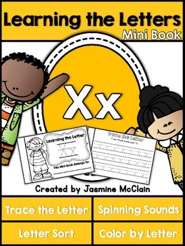 Learning the Letter X Mini Book