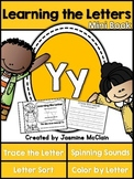 Learning the Letter Y Mini Book