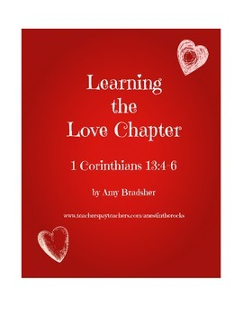 Learning the Love Chapter - Valentine's Day Printable Pack -