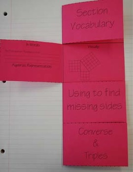 Learning the Pythagorean Theorem Foldable
