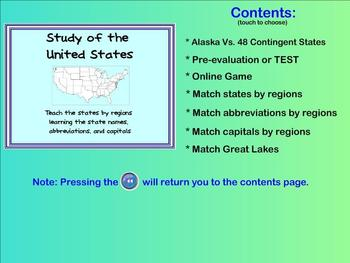 Learn the States - state names, capitals, abbreviations (S