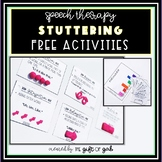 Speech Therapy Stuttering Activities: Free