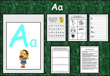 Learning the alphabet - initial sound Aa