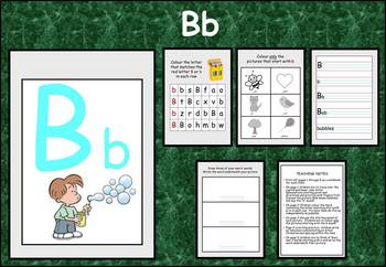 Learning the alphabet - initial sound Bb
