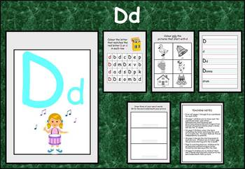 Learning the alphabet - initial sound Dd