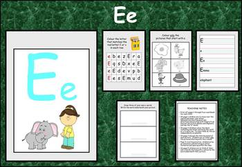 Learning the alphabet - initial sound Ee