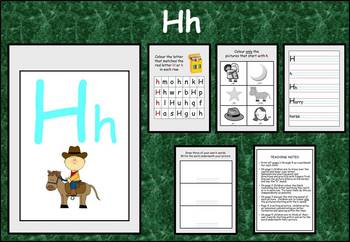 Learning the alphabet - initial sound Hh