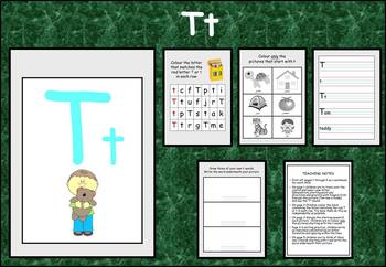 Learning the alphabet - initial sound Tt