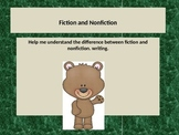 Learning the difference between fiction and nonfiction text.  Lesson.