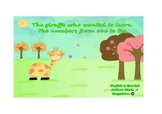 Learning the numbers and animals through a bilingual story