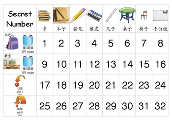Learning the use of 里 in Chinese: Secret Number Board Game