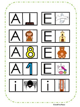 Learning the vowels in spanish