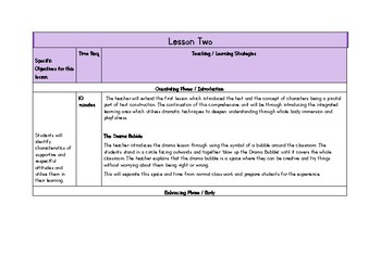 Learning through Drama, English Unit : Goldilocks and the Three .........