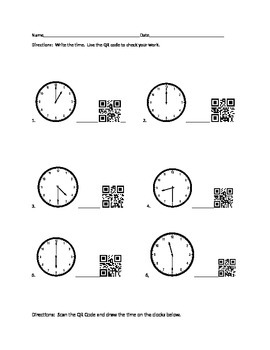 Learning time with QR Codes