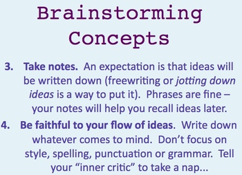Learning to Brainstorm -- Concepts and Activities