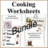 Learning to Cook Worksheet Bundle