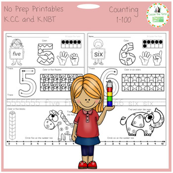 Learning to Count: 0-100, Common Core K.CC & K.NBT -- No P