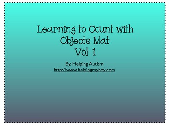 Learning to Count Mats vol 1 Special Needs/Autism FREE