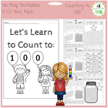 Learning to Count to 100 -- K.CC  -- No Prep Printables Mini Pack