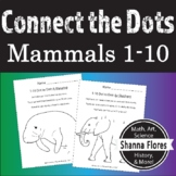 Learning to Count with Dot to Dot, Numbers 1 - 10, Animal Connect the Dots