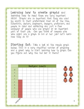Learning to Graph - Line and Bar Graphs