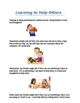 Learning to Help Others