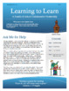 Learning to Learn Newsletter for Parents & Students - 8th Edition