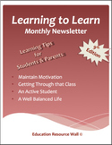 Learning to Learn Newsletter for Parents & Students - 9th Edition