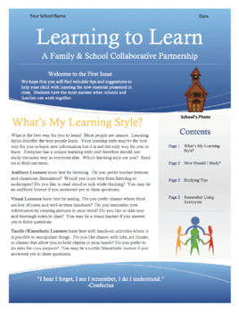 Learning to Learn Newsletter for Parents & Students - Bundle!