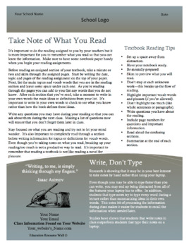 Learning to Learn Newsletter for Parents & Students - 3rd Edition