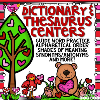Dictionary and Thesaurus Task Cards and Literacy Stations