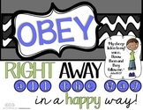 Learning to OBEY {Right away, all the way, in a happy way!}