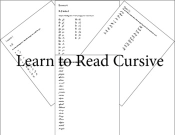 Learning to Read Cursive Sample