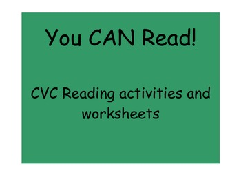 Learning to Read! Saying sounds to read CVC words - Activi