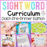 Dolch Sight Words Pre-Primer   Activities, Literacy Centers, Worksheets