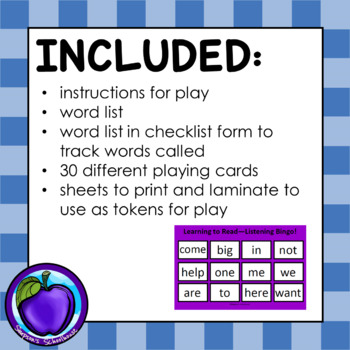Learning to Read with Listening Bingo