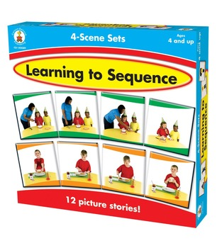 Learning to Sequence: 4 Scene Set Boxed Game Grades PK-1 140089