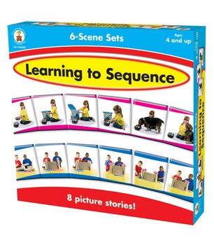 Learning to Sequence: 6 Scene Set Boxed Game Grades PK-1 140090