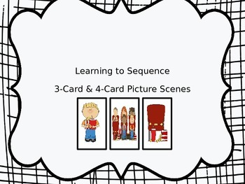 Learning to Sequence: Three and Four Card Picture Scenes