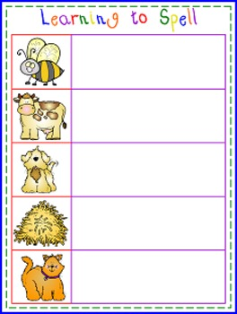 Learning to Spell Write and Spell Word Mats and Sheets