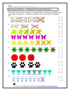 Learning to Subtract Teacher Worksheet Pack