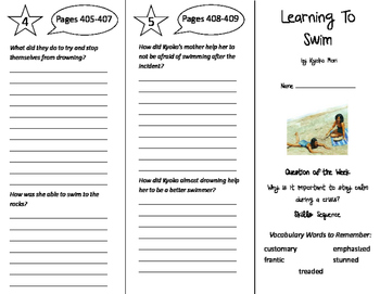 Learning to Swim Trifold - Reading Street 6th Grade Unit 3 Week 3
