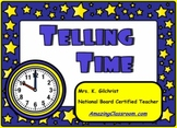 Learning to Tell Time SMART Notebook Lesson