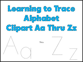 Learning to Trace Alphabet Clipart
