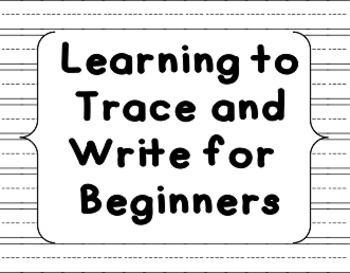 Learning to Trace and Write for beginners (BW)